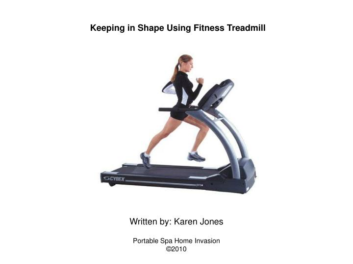 Keeping in Shape Using Fitness