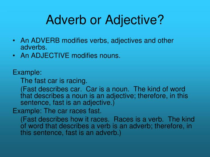 Ppt Adverbs Powerpoint Presentation Id604158