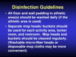 disinfection guidelines48