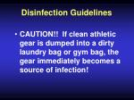 disinfection guidelines50