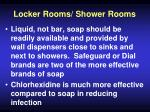 locker rooms shower rooms