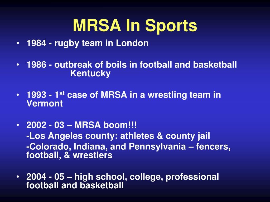 MRSA In Sports