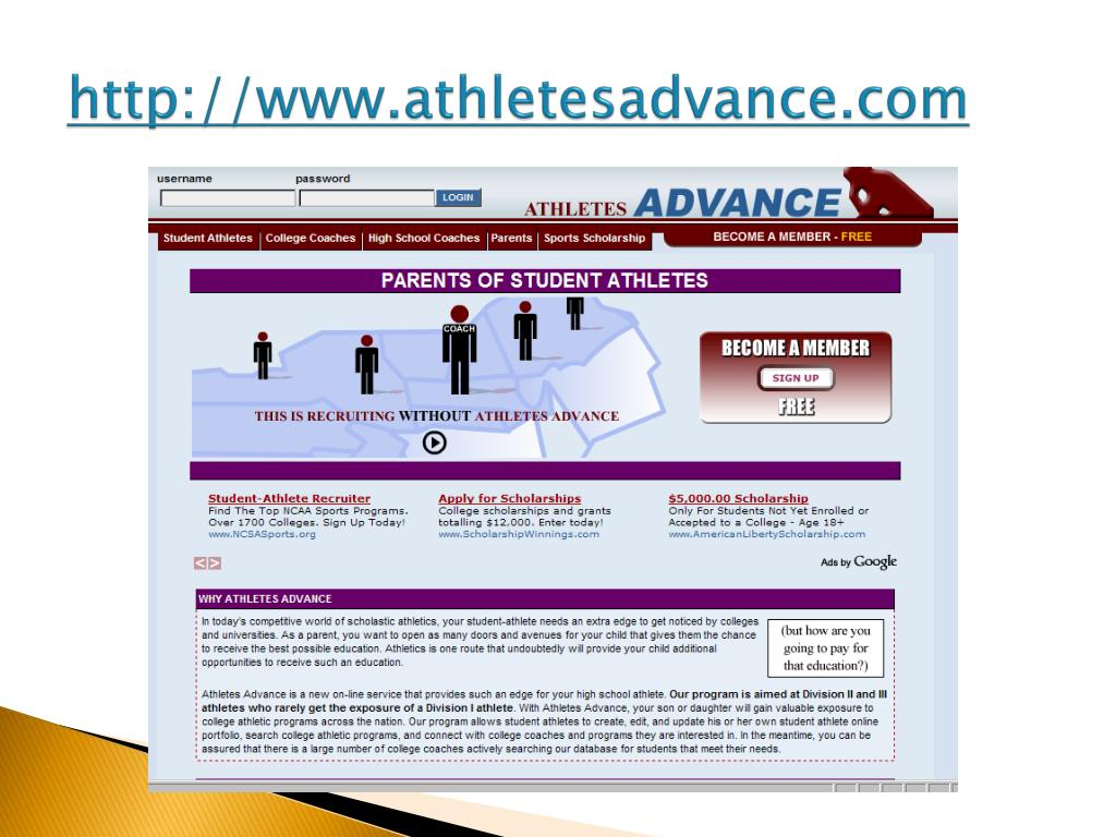 http://www.athletesadvance.com