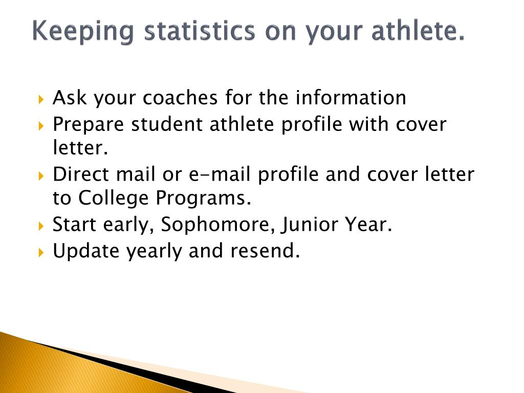 Keeping statistics on your athlete.