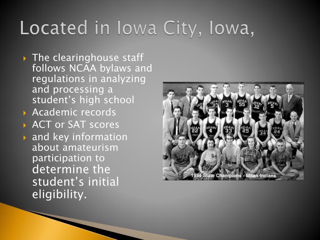 Located in Iowa City, Iowa,