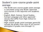 student s core course grade point average