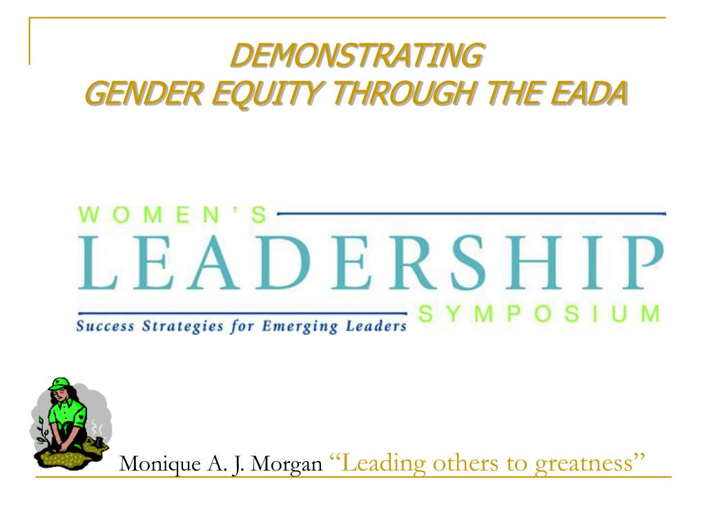demonstrating gender equity through the eada l.