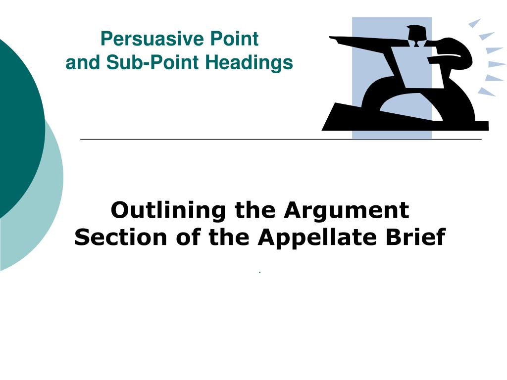 persuasive point and sub point headings l.