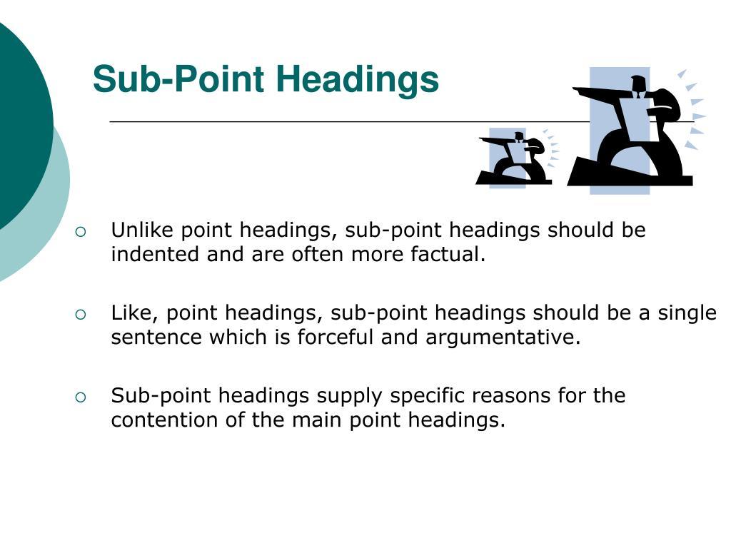 Sub-Point Headings