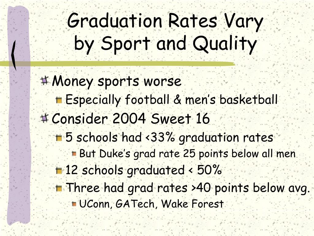 Graduation Rates Vary