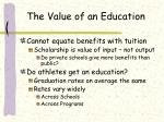 the value of an education