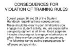 consequences for violation of training rules