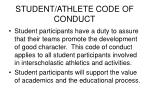 student athlete code of conduct