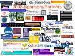 2003 sponsors partners
