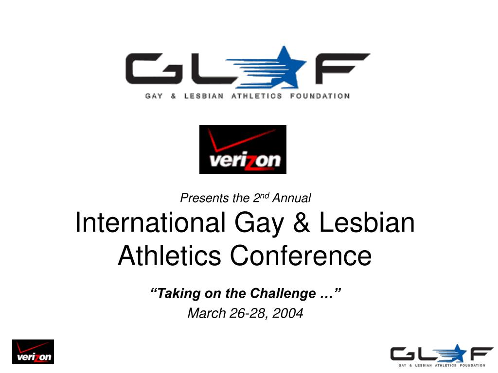 presents the 2 nd annual international gay lesbian athletics conference l.