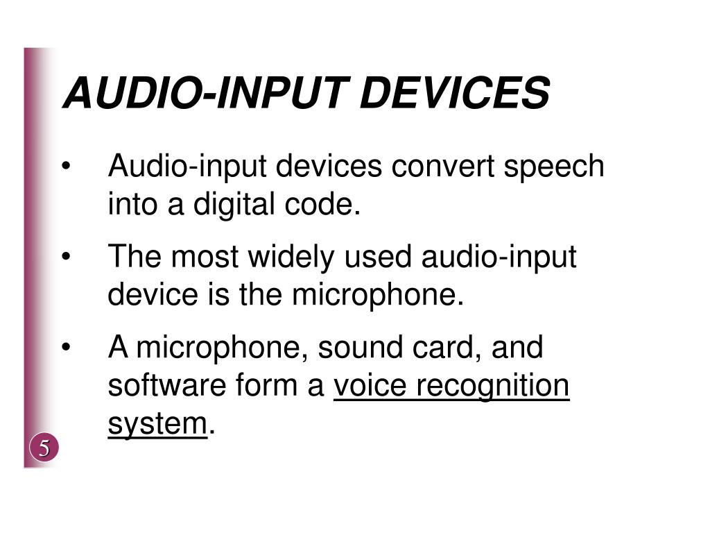 AUDIO-INPUT DEVICES