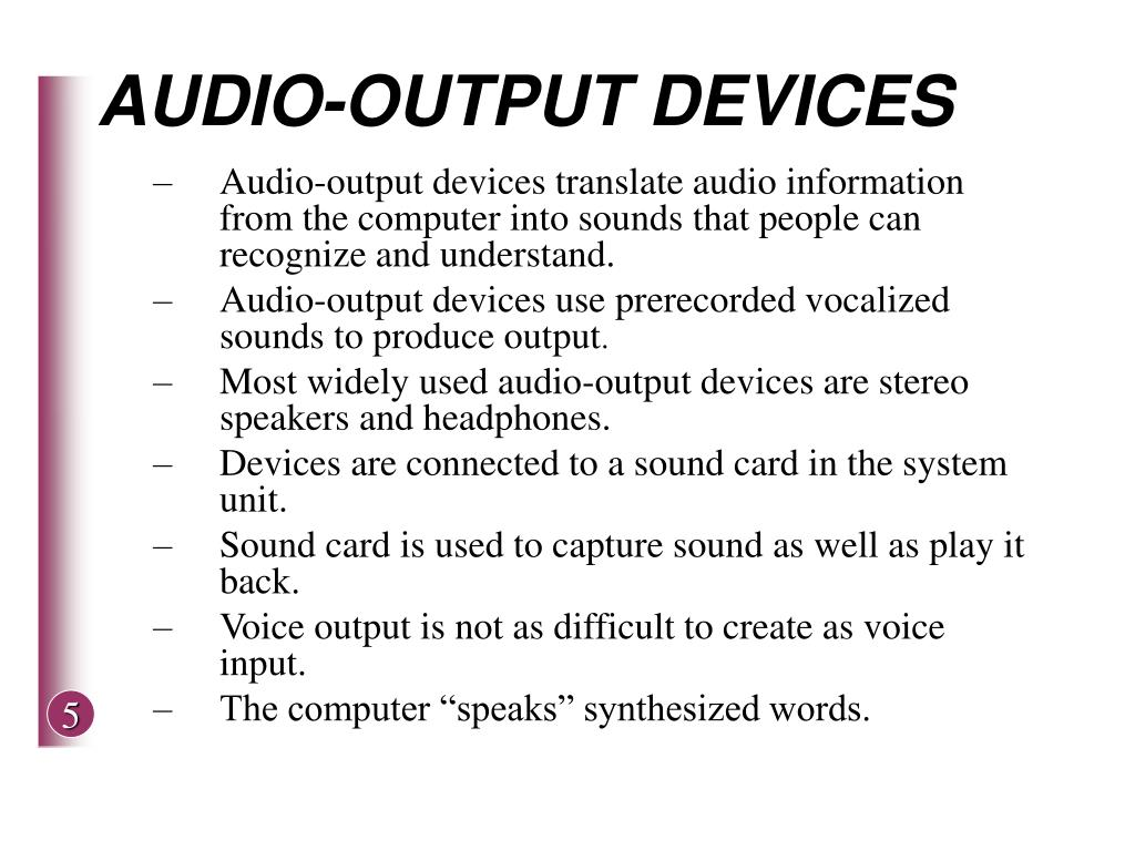 AUDIO-OUTPUT DEVICES
