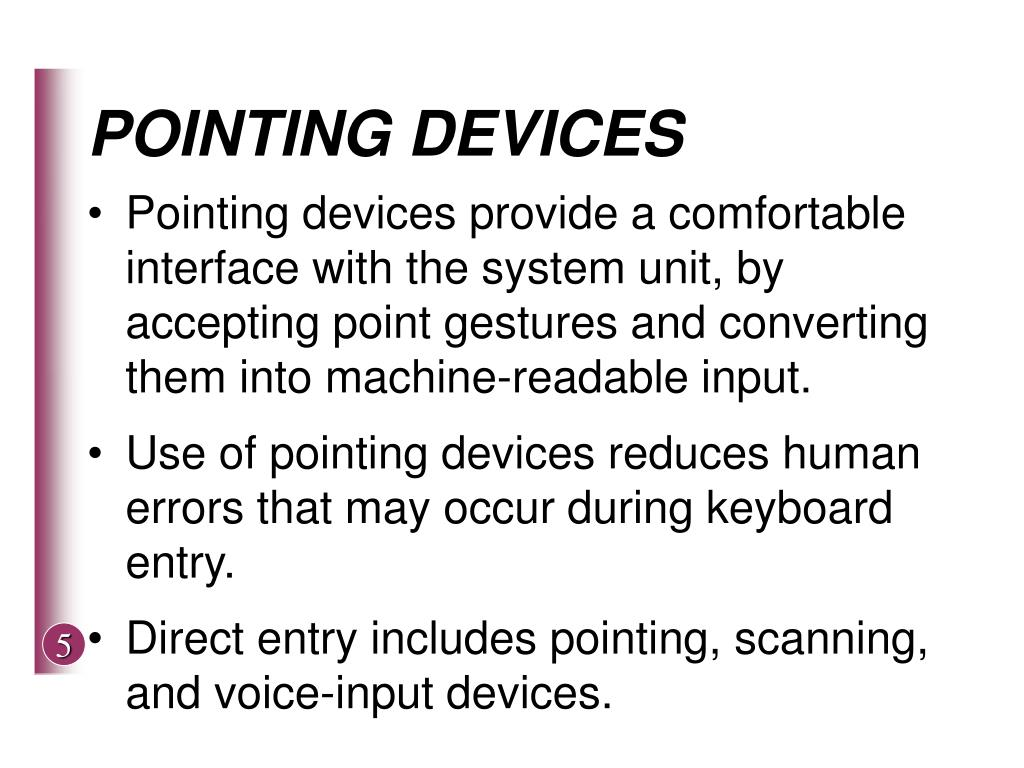 POINTING DEVICES