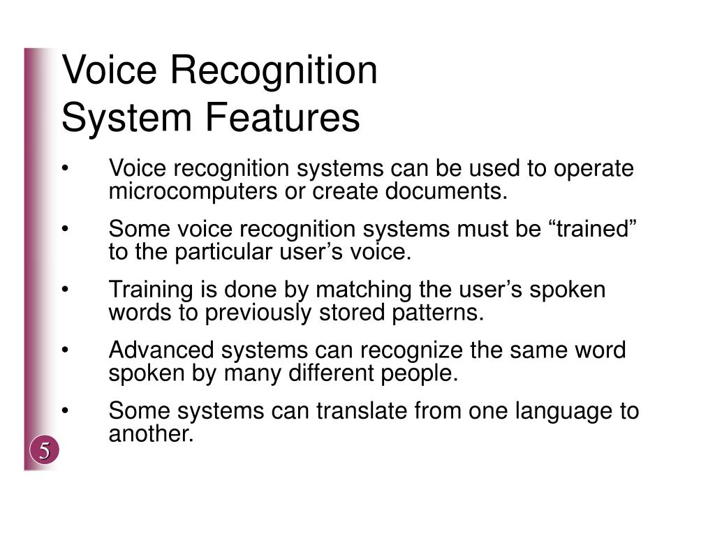 Voice Recognition