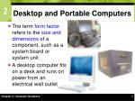 desktop and portable computers