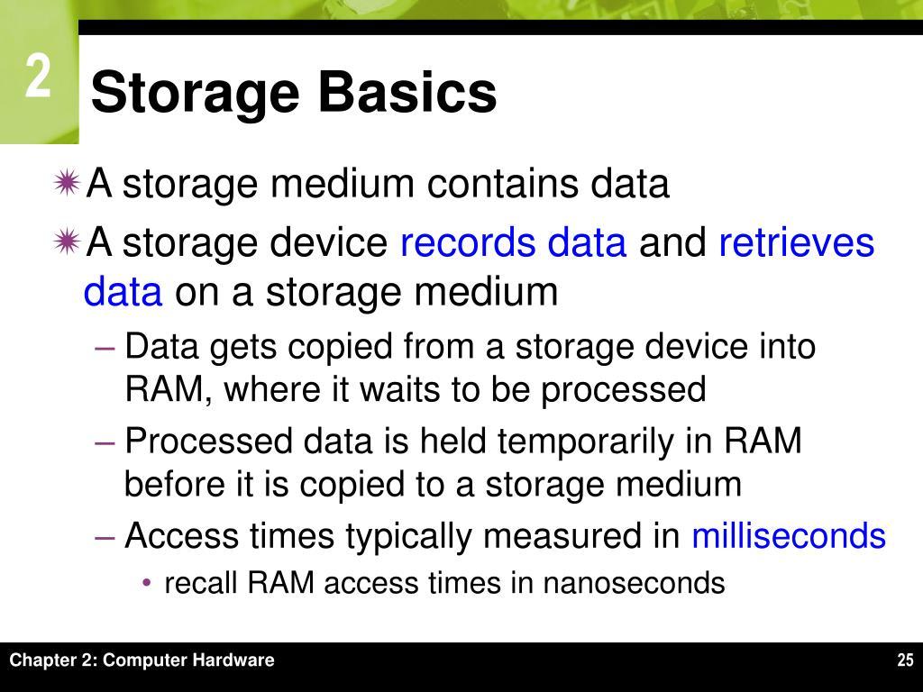 Storage Basics