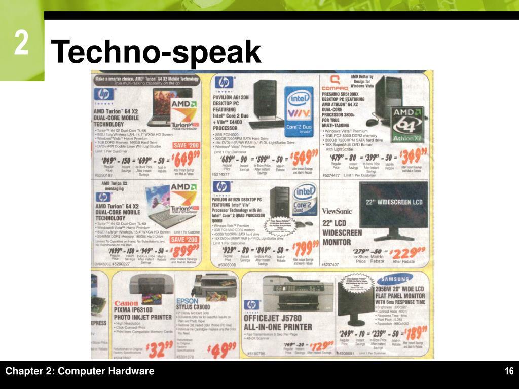 Techno-speak