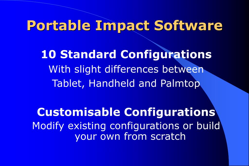 Portable Impact Software