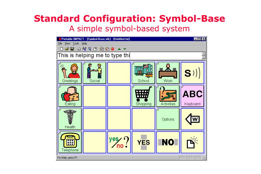 Standard Configuration: Symbol-Base