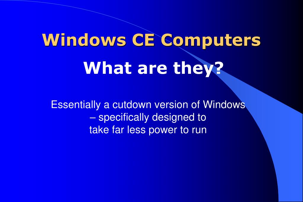 Windows CE Computers