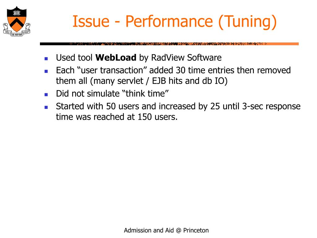 Issue - Performance (Tuning)