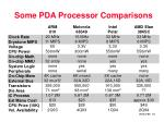 some pda processor comparisons15