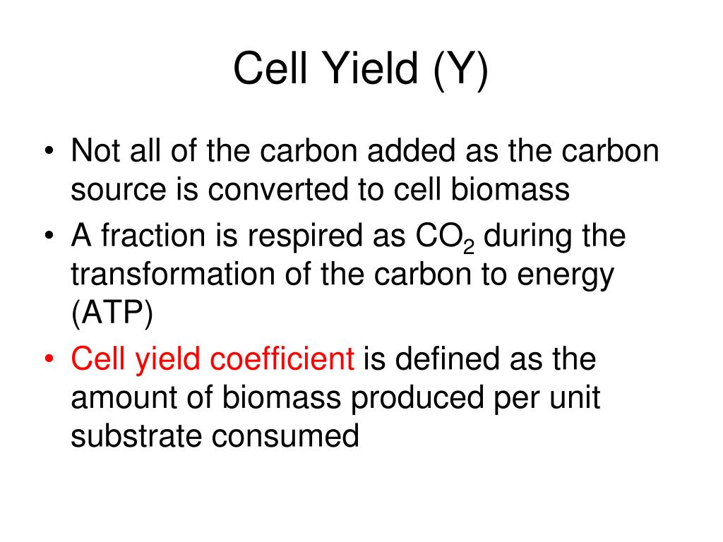 Cell Yield (Y)