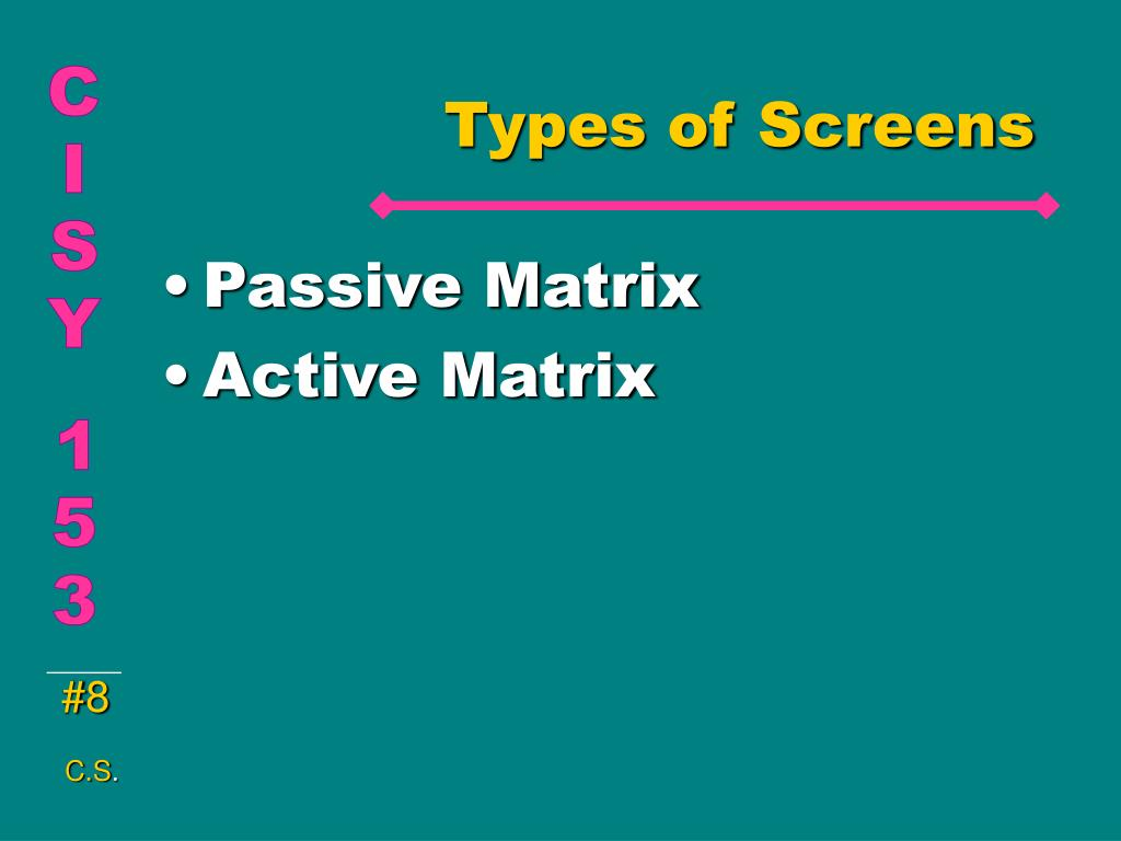 Types of Screens