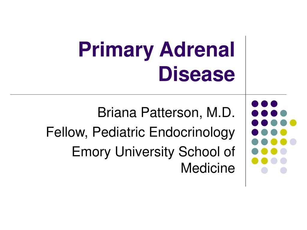 PPT - Primary Adrenal Disease PowerPoint Presentation - ID