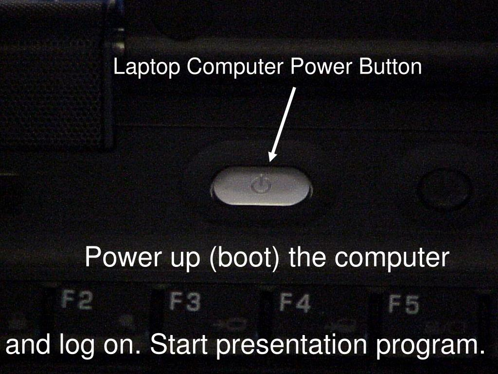 Laptop Computer Power Button