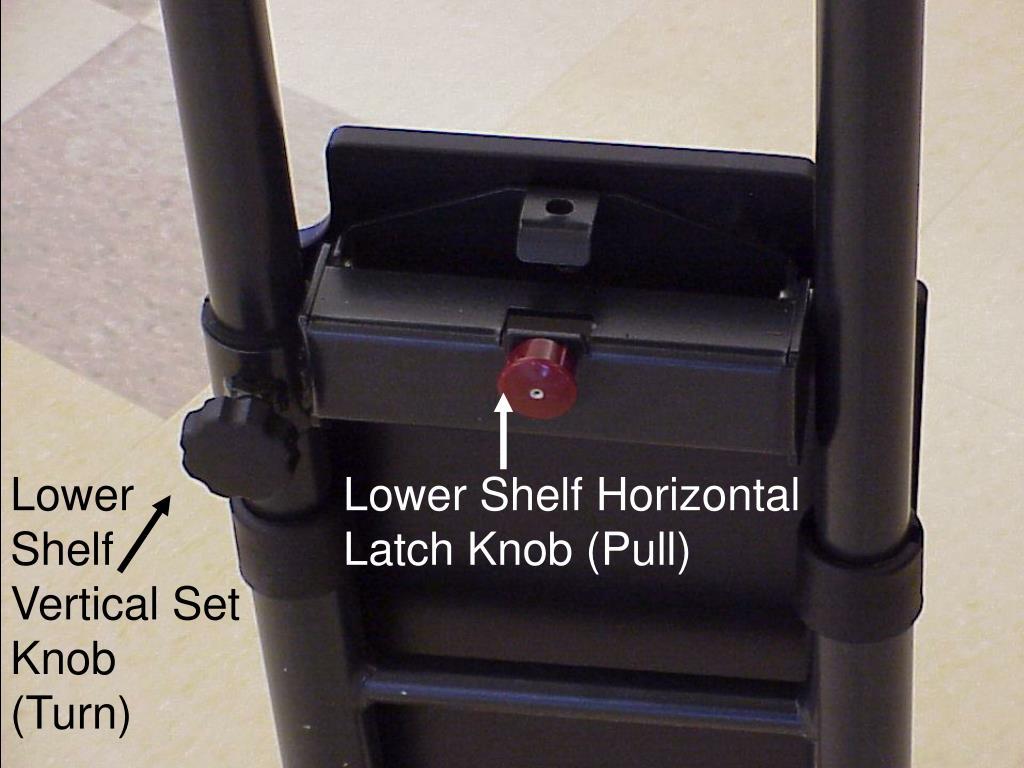 Lower Shelf Vertical Set Knob (Turn)