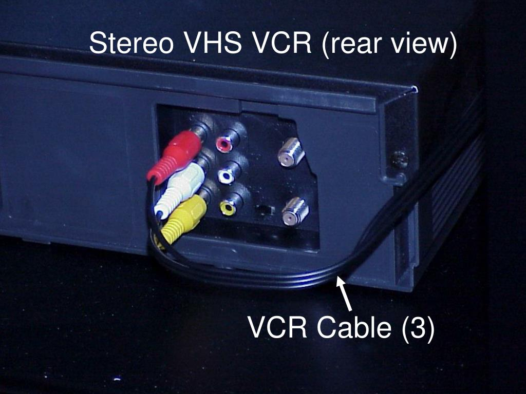Stereo VHS VCR (rear view)