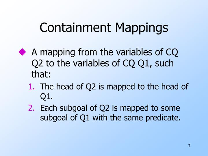 Containment Mappings