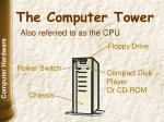 the computer tower