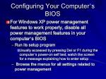 configuring your computer s bios