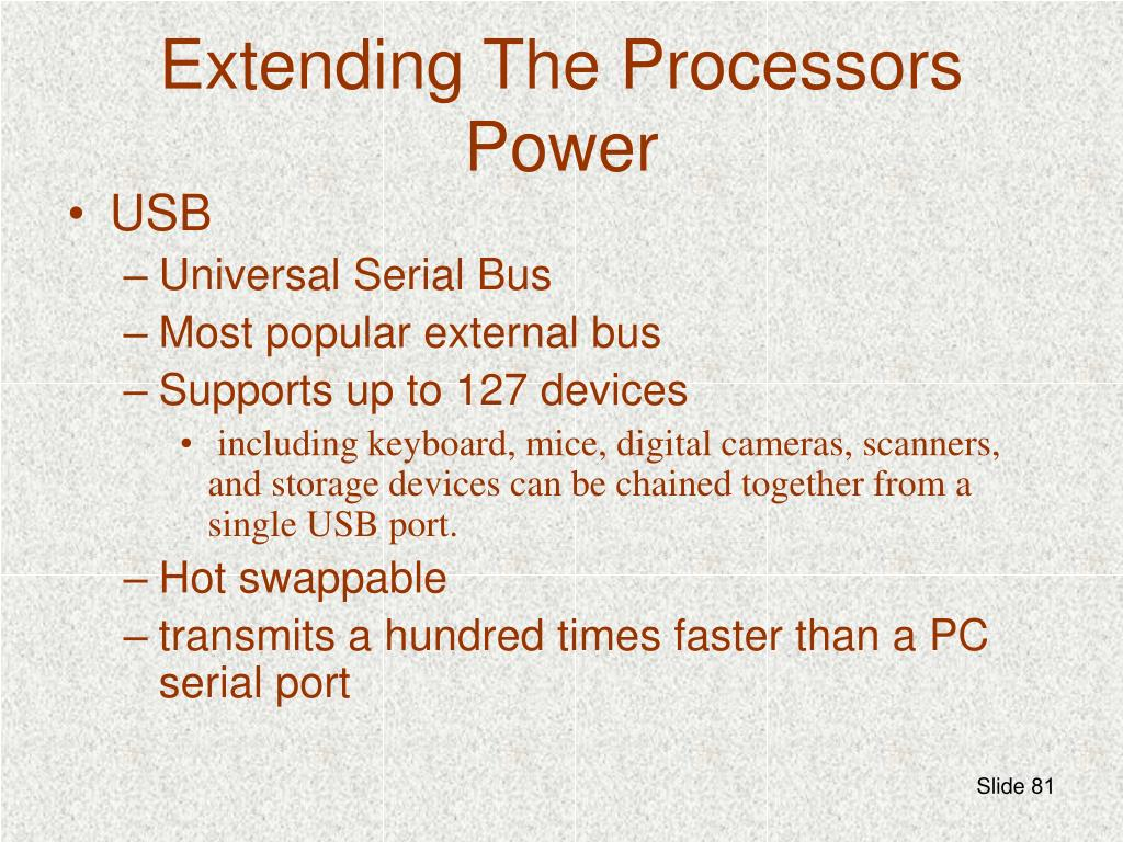 Extending The Processors Power