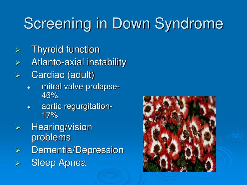Screening in Down Syndrome