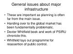 general issues about major infrastructure