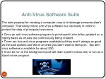 anti virus software suite