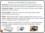 kinds of portable computers