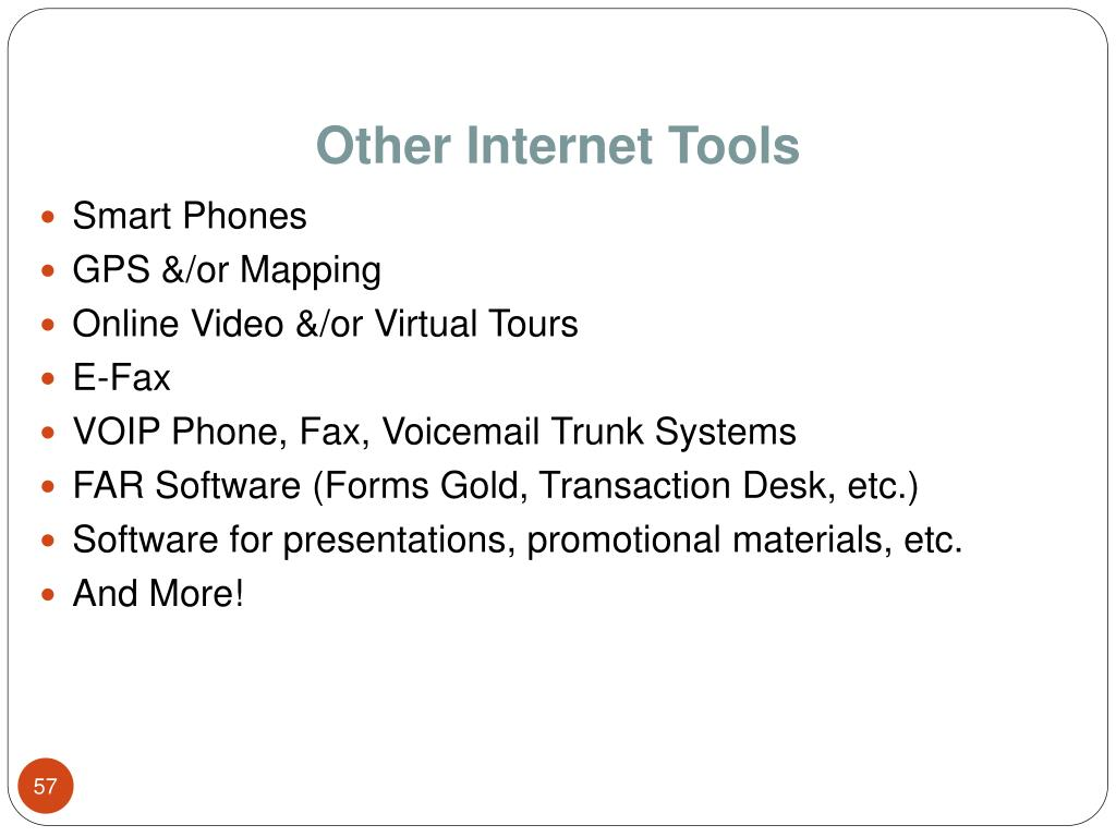 Other Internet Tools