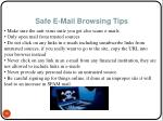 safe e mail browsing tips