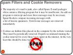 spam filters and cookie removers