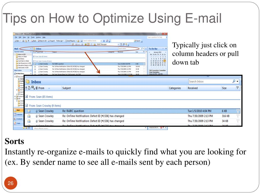 Tips on How to Optimize Using E-mail