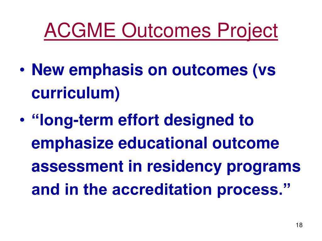 ACGME Outcomes Project